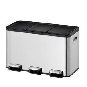 """""""EKO Essential Recycler Pedaalemmer 30 Liter (3x10L) - RVS """""""