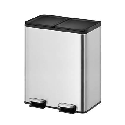 """""""EKO Essential Recycler Pedaalemmer 40 Liter (20+20L) - RVS """""""