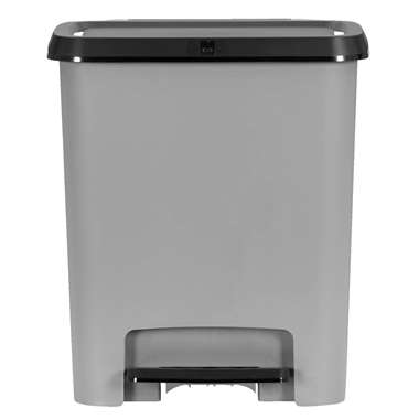 Kis pedaal afvalscheider - grijs - 2x13l - Leen Bakker