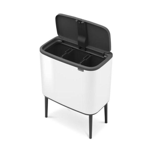 Brabantia Bo Touch Bin - 3 x 11 liter - Wit
