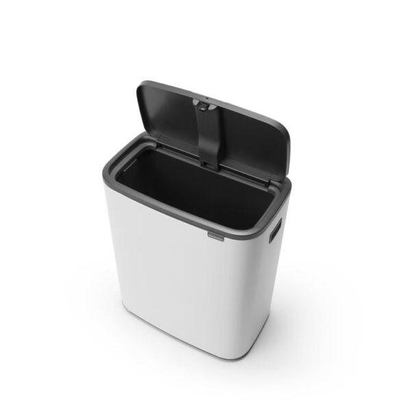 Brabantia Bo Touch bin - 60 liter - Wit