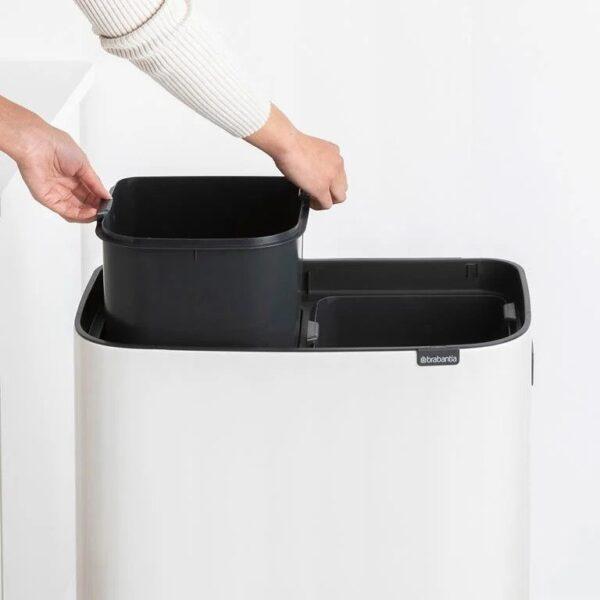Brabantia Bo Touch Bin Hi - 2 x 30 liter - Wit