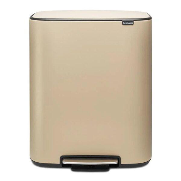 Mineral Golden Beach - 2x30 liter - Brabantia Bo Pedaalemmer