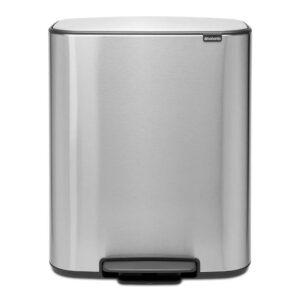 Zilver - 2x30 liter - Brabantia Bo pedaalemmer