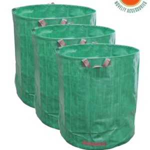 JARDTEC Opvouwbare Tuinafvalzakken 272 liter- set van 3 stuks Bladeren tuinafval takken Tuinafvalzak