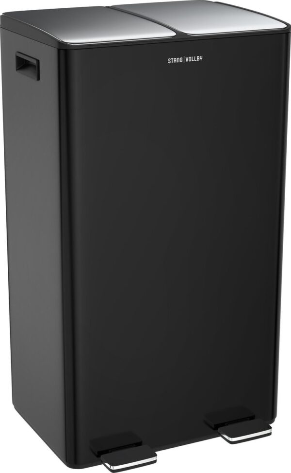 StangVollby Edsbyn prullenbak met 2 vakken - Duo Pedaalemmer 60 liter (2x30L) - Zwart