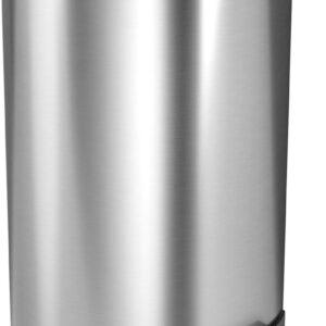 StangVollby Kallax Pedaalemmer - 5 Liter - RVS - Prullenbak - Toilet - Badkamer - Klein - Soft Close Deksel - Chique Design - Kleine Witte Pedaal Prullenbak