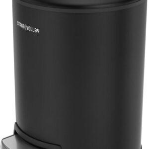 StangVollby Rosvik Pedaalemmer - 3 Liter - RVS - Zwart - Prullenbak - Toilet - Badkamer - Klein - Soft Close Deksel - Chique Design - Kleine Zwarte Pedaal Prullenbak - Afvalzak Inkeping