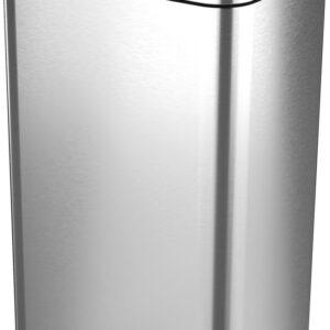 Stangvollby sensor prullenbak - 45L - Hygiënische automatische deksel - RVS - Soft close - Vingerafdrukvrij - Design NO.08