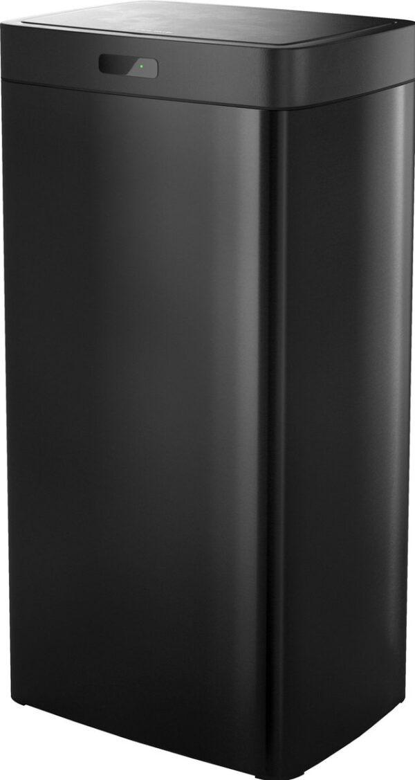 Stangvollby sensor prullenbak - 45L - Hygiënische automatische deksel - RVS - Soft close - Vingerafdrukvrij - Zwart - Design NO.04
