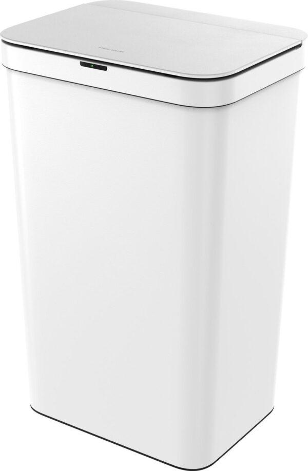 Stangvollby sensor prullenbak - 50L - Hygiënische automatische deksel - Soft close - Vingerafdrukvrij - Wit - Design NO.06