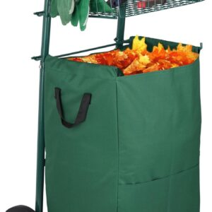 relaxdays tuinkar - tuintrolley 70L tuinafvalzak - tuinwagen inklapbaar - steekwagen