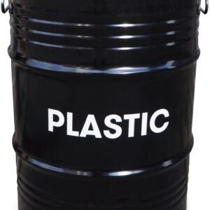 BinBin Handle Plastic industriële prullenbak afvalscheiding 60 Liter olievat met handvat deksel