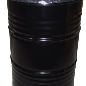 BinBin Hole industriële afvalbak Zwart 200 Liter olievat met gat in deksel