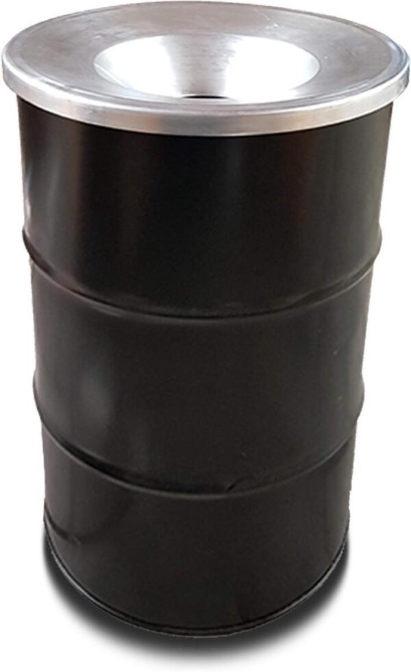 BinBin Industriële prullenbak zwart 120 Liter met vlamwerend deksel