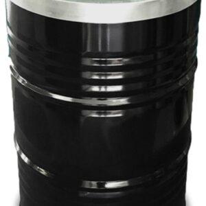 BinBin Industriële prullenbak zwart 200 Liter met vlamwerend deksel