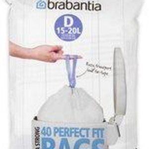 Brabantia PerfectFit Afvalzak met Trekbandsluiting - 15/20 l - Code D - 40 stuks