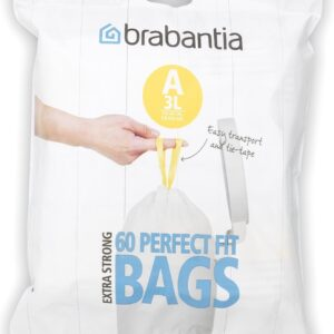 Brabantia PerfectFit Afvalzak met Trekbandsluiting - 3 l - Code A - 60 stuks