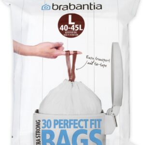 Brabantia PerfectFit Afvalzak met Trekbandsluiting - 40/45 l - Code L - 30 stuks