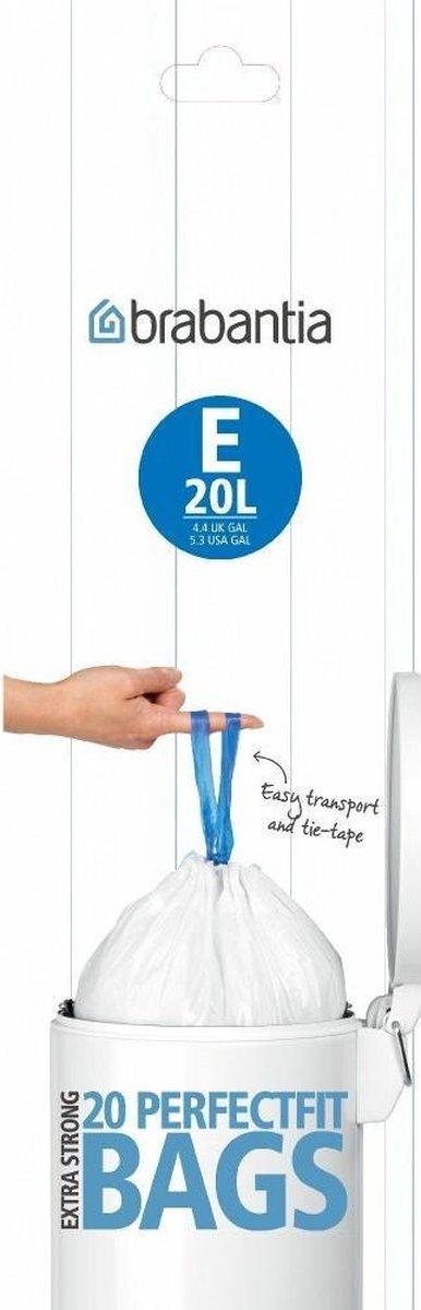 Brabantia PerfectFit Afvalzak met trekbandsluiting - 20 l - Code E - 20 stuks
