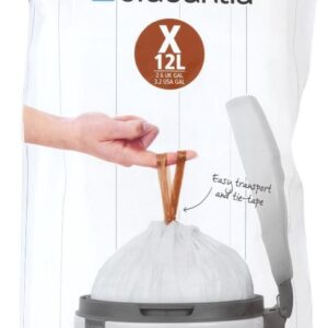 Brabantia PerfectFit Vuilniszakken - 10/12 l - Code X - 40 stuks
