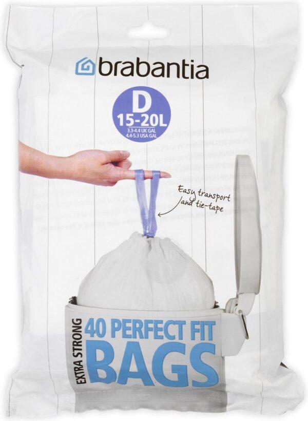 Brabantia PerfectFit Vuilniszakken - 15/20 l - Code D - 40 stuks