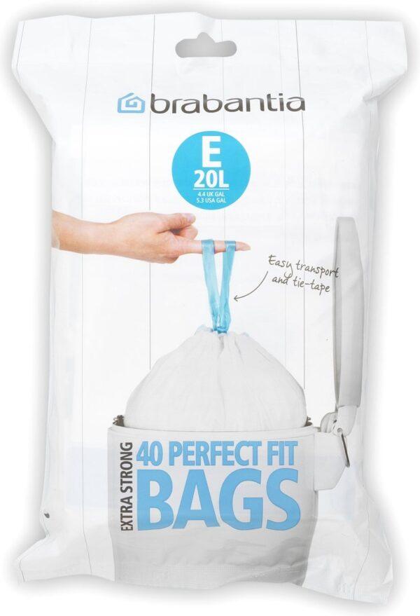 Brabantia PerfectFit Vuilniszakken - 20 l - Code E - 40 stuks