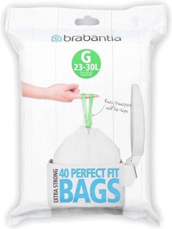 Brabantia PerfectFit Vuilniszakken - 23/30 l - Code G - 40 stuks