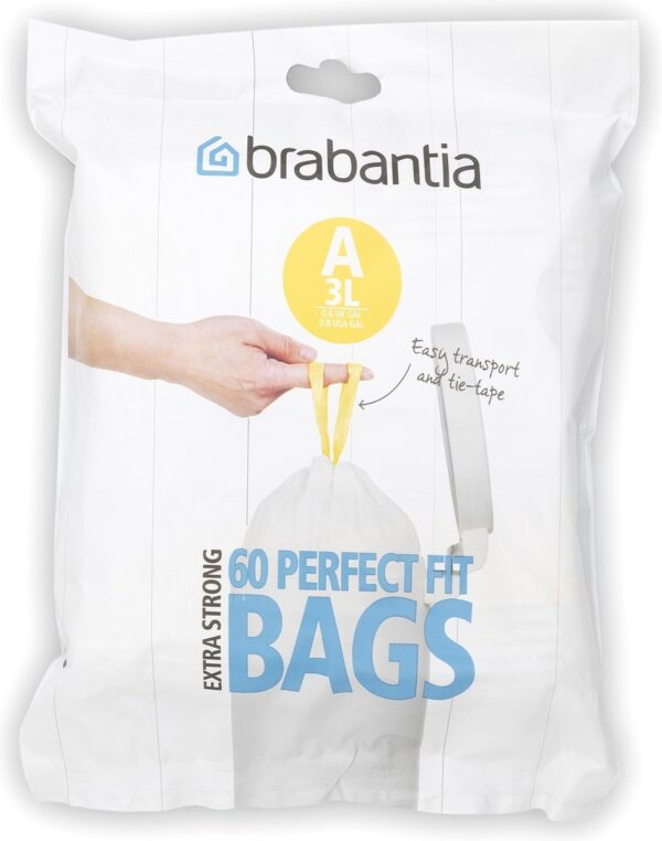 Brabantia PerfectFit Vuilniszakken - 3 l - Code A - 60 stuks