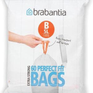 Brabantia PerfectFit Vuilniszakken - 5 l - Code B - 60 stuks