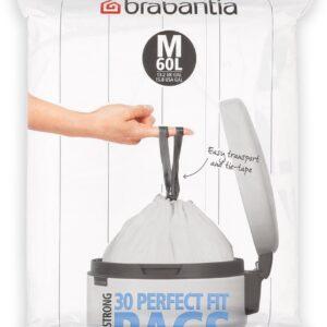 Brabantia PerfectFit Vuilniszakken - 60 l - Code M - 30 stuks