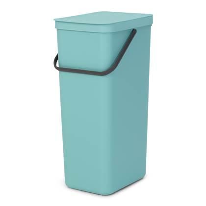 Brabantia Sort & Go Afvalemmer 40 Liter - Mint
