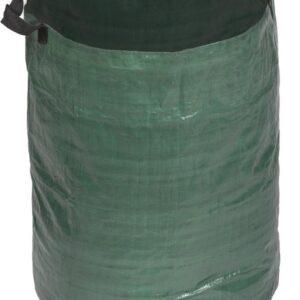 Groene tuinafvalzak opvouwbaar 120 liter met een setje bladharken/tuinafval grijpers - Tuinieren opharken