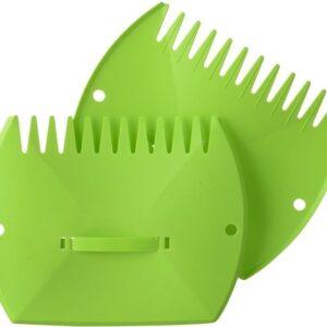 Groene tuinafvalzak opvouwbaar 290 liter met een setje bladharken/tuinafval grijpers - Tuinieren opharken