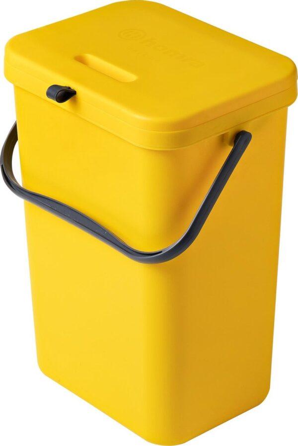 Homra Wall-up prullenbak - Inbouwprullenbak 12L inhoud - Geel
