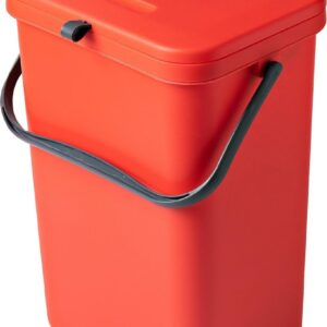 Homra Wall-up prullenbak - Inbouwprullenbak 12L inhoud - Rood