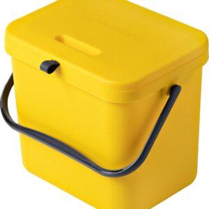 Homra Wall-up prullenbak - Inbouwprullenbak 8L inhoud - Geel