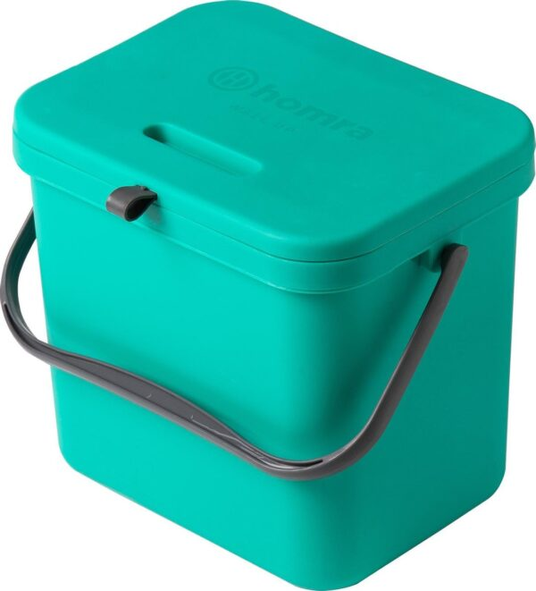 Homra Wall-up prullenbak - Inbouwprullenbak 8L inhoud - Groen