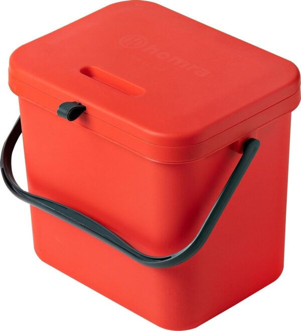 Homra Wall-up prullenbak - Inbouwprullenbak 8L inhoud - Rood