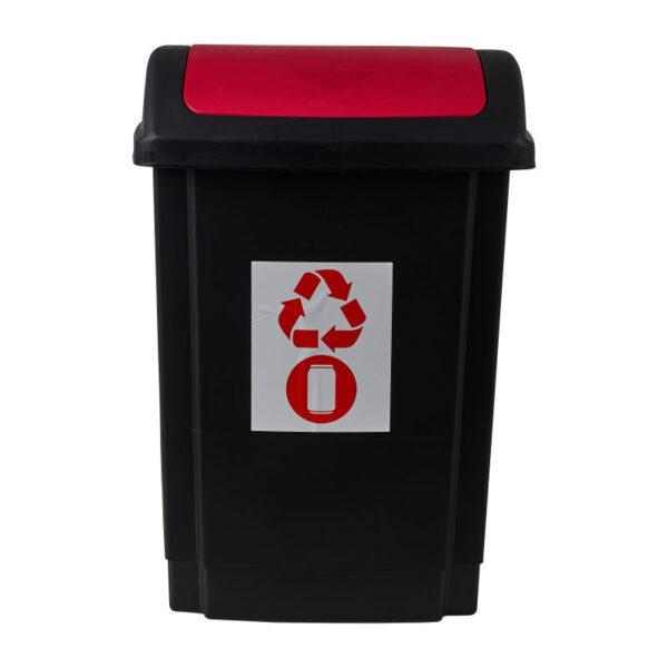 Prullenbak - rood - 25 liter - Xenos