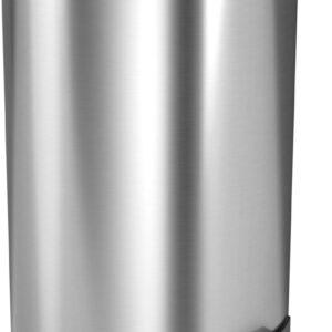 StangVollby Kallax Pedaalemmer - 5 Liter - RVS - Prullenbak - Toilet - Badkamer - Klein - Soft Close Deksel - Chique Design - Kleine RVS Pedaal Prullenbak