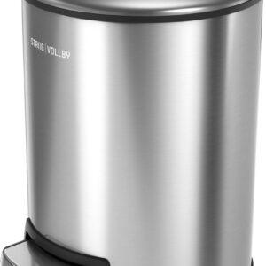 StangVollby Rosvik Pedaalemmer - 3 Liter - RVS - Prullenbak - Toilet - Badkamer - Klein - Soft Close Deksel - Chique Design - Kleine RVS Pedaal Prullenbak - Afvalzak Inkeping