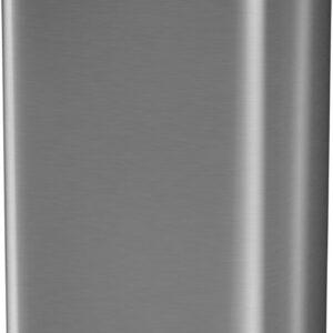 Stangvollby Dalby Prullenbak met Sensor - 50L - RVS - Hygiënisch - Vingerafdrukvrij - Elektrische Afvalemmer - Duurzaam ABS Kunststof - Automatische Soft Close Deksel met Infrarood Sensor - Kick Functie - 50 liter - Vuilnisbak
