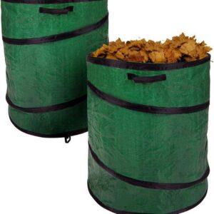 Tuinafvalzak - Set van 2 - Pop- up - 160 liter per stuk - Tuinzak