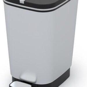 Kis prullenbak 10 liter grijs