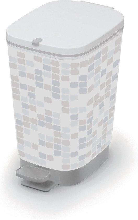 Kis prullenbak 10 liter mosaic