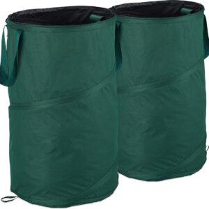 relaxdays tuinafvalzak pop-up - tuin afvalzak - set van 2 - 120 l - groenafvalzakken