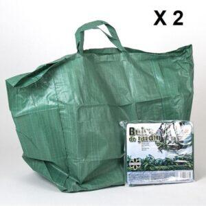 Handige Tuintas 2 stuks - Herbruikbaar Groene tuinafvalzak opvouwbaar 90 liter - Tuinafvalzak - Tuin schoonmaken/opruimen