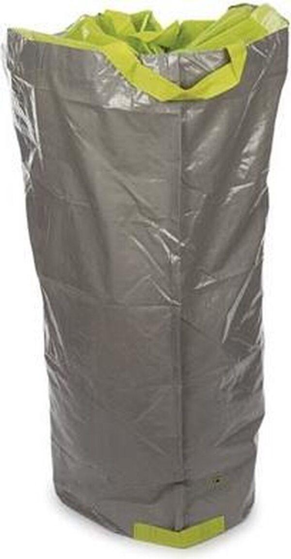 Perel Tuinafvalzak 270 Liter 64 X 105 Cm Polyetheen Grijs/groen