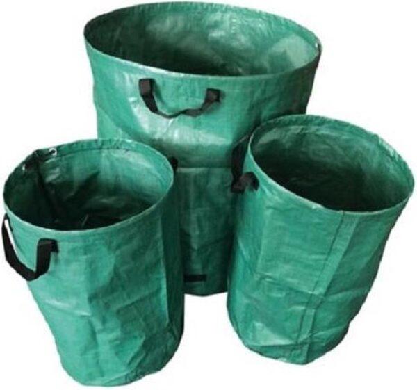 Toolland Tuinafvalzak 65/270 Liter Polypropyleen Groen 3-delig